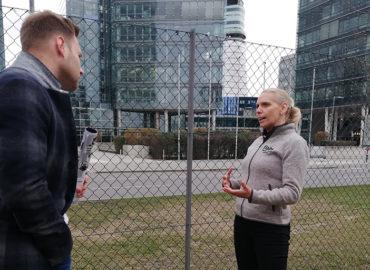 Interview mit riz up am Flughafen Wien